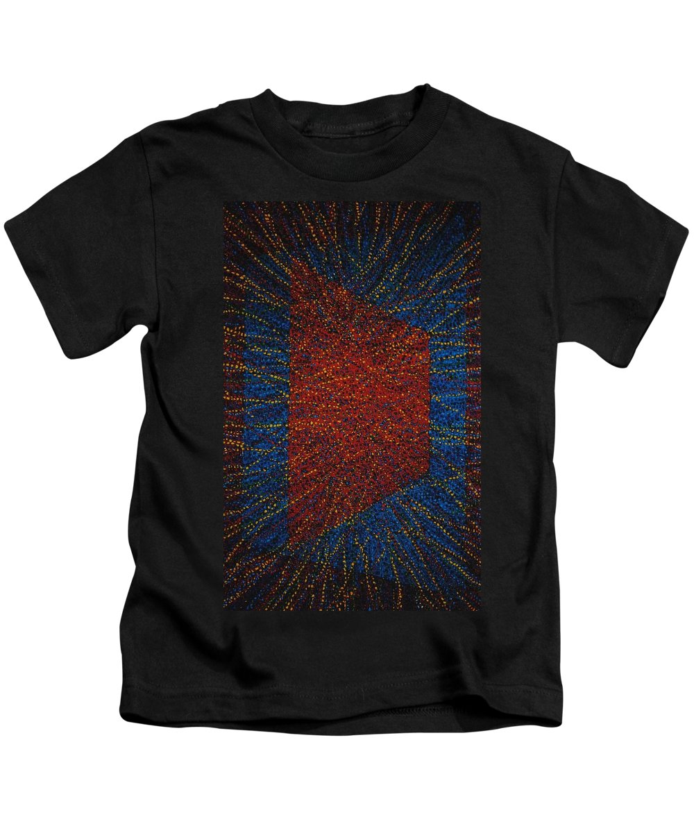 Inspirational Kids T-Shirt featuring the painting Mobius Band by Kyung Hee Hogg