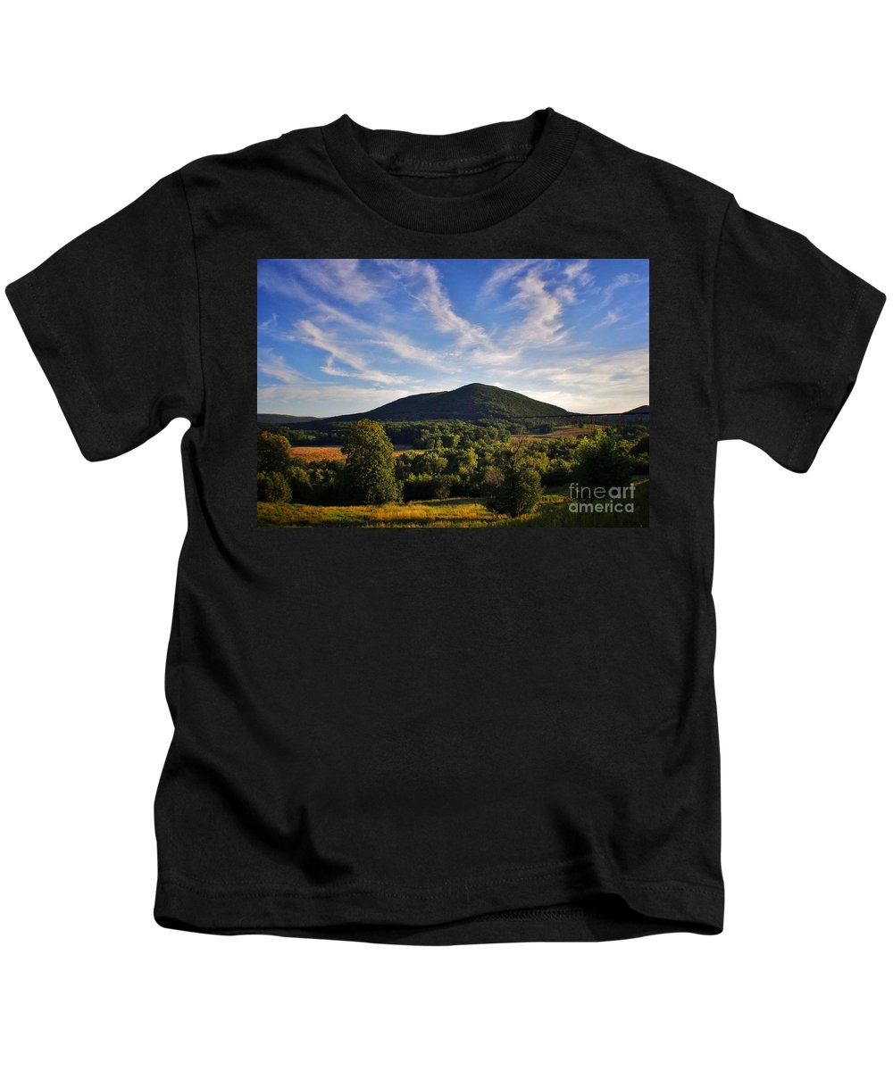 Kids T-Shirt featuring the photograph Moodna Viaduct Trestle by Chet B Simpson