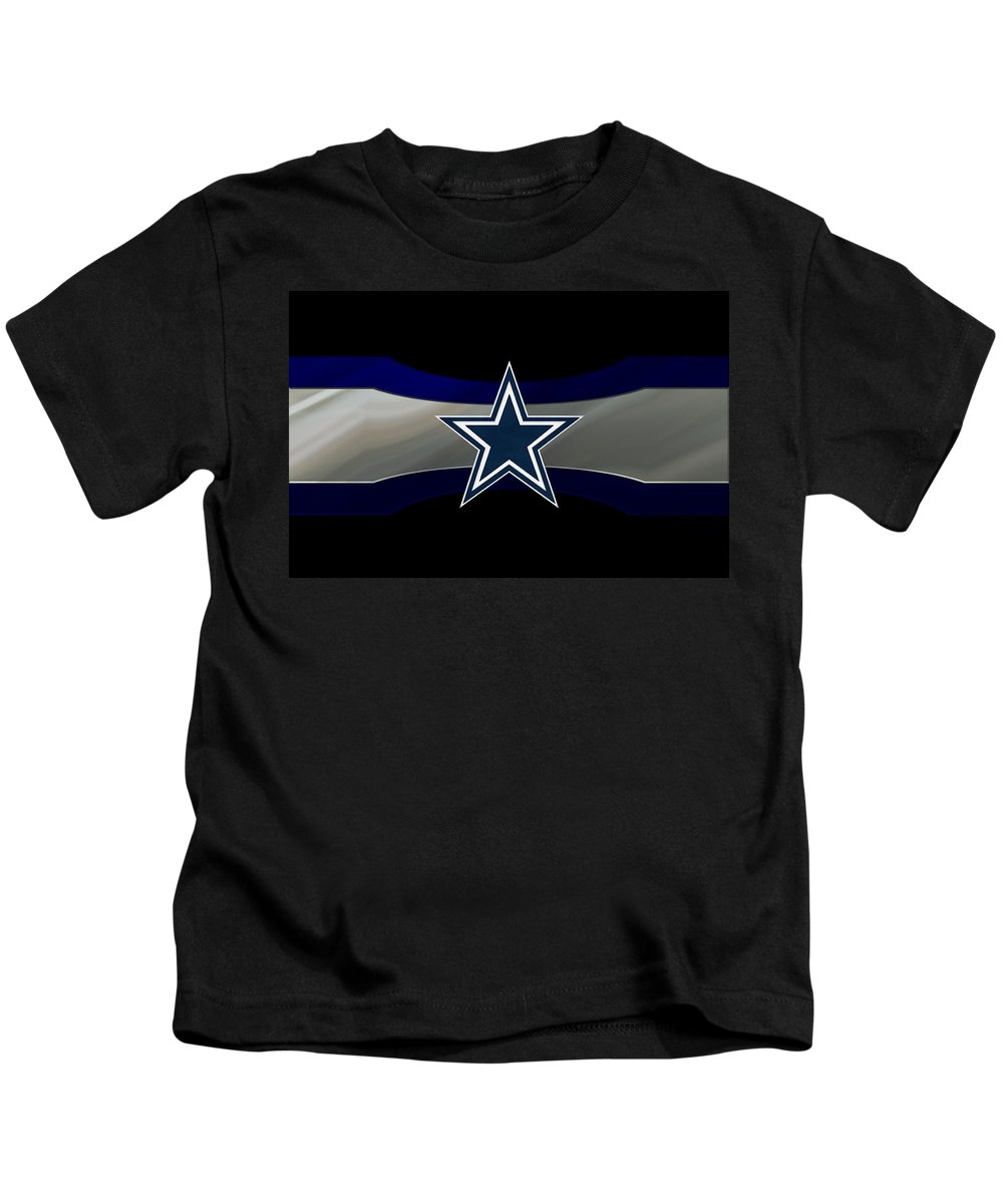 Cowboys Kids T-Shirt featuring the photograph Dallas Cowboys by Joe Hamilton