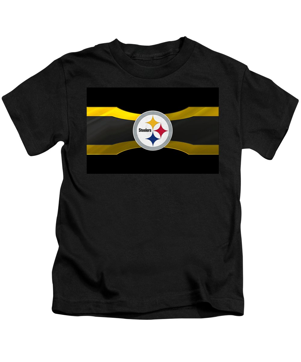Steelers Kids T-Shirt featuring the photograph Pittsburgh Steelers by Joe Hamilton