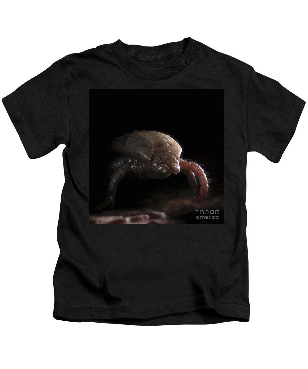 Parasites Kids T-Shirt featuring the photograph Tick Ixodes by Science Picture Co