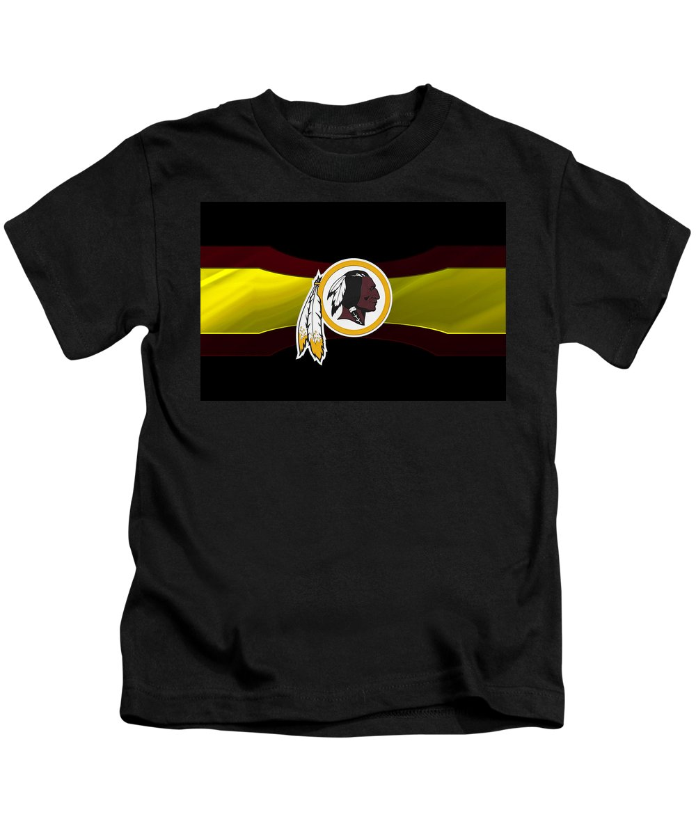 Redskins Kids T-Shirt featuring the photograph Washington Redskins by Joe Hamilton