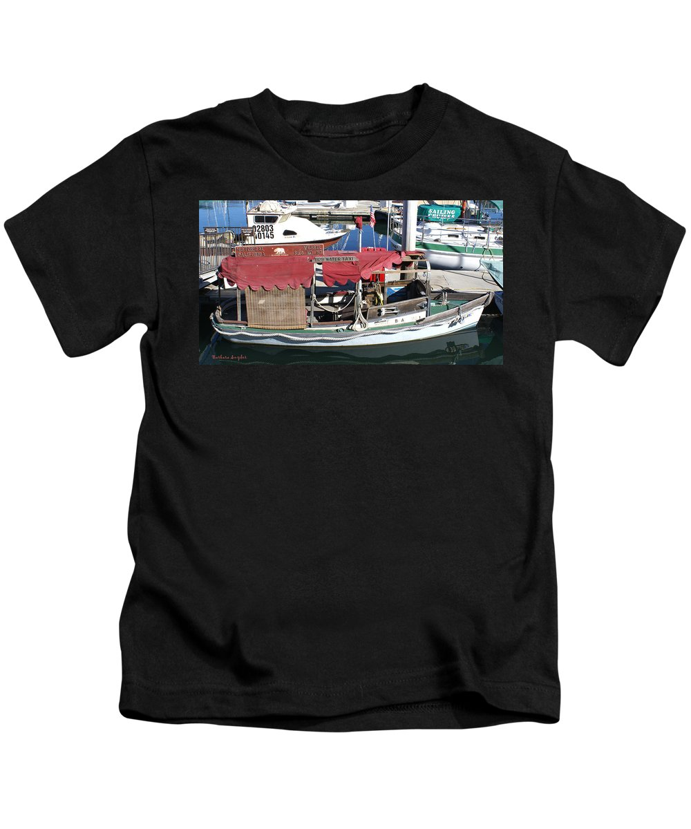 1929 Water Taxi Kids T-Shirt featuring the digital art 1929 Water Taxi by Barbara Snyder