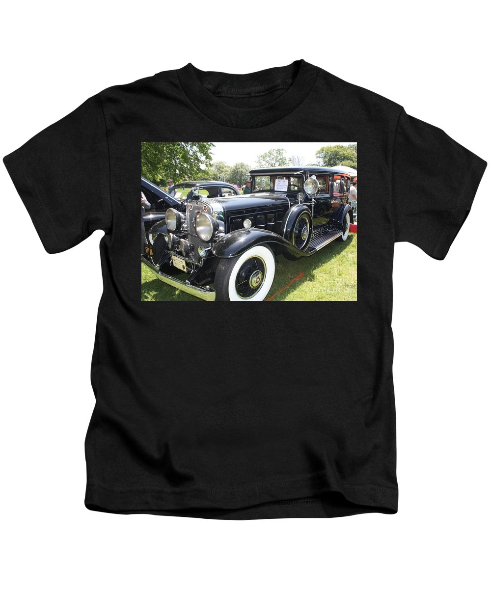1930 Cadillac V-16 Imperial Limousine Kids T-Shirt featuring the photograph 1930 Cadillac V-16 Imperial Limousine by John Telfer