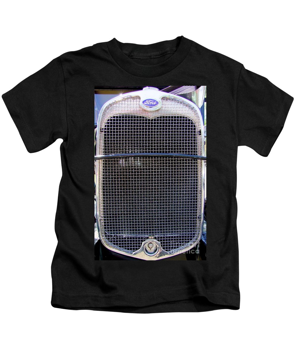 Ford Kids T-Shirt featuring the photograph 1930 Ford Model A Grille by Mary Deal