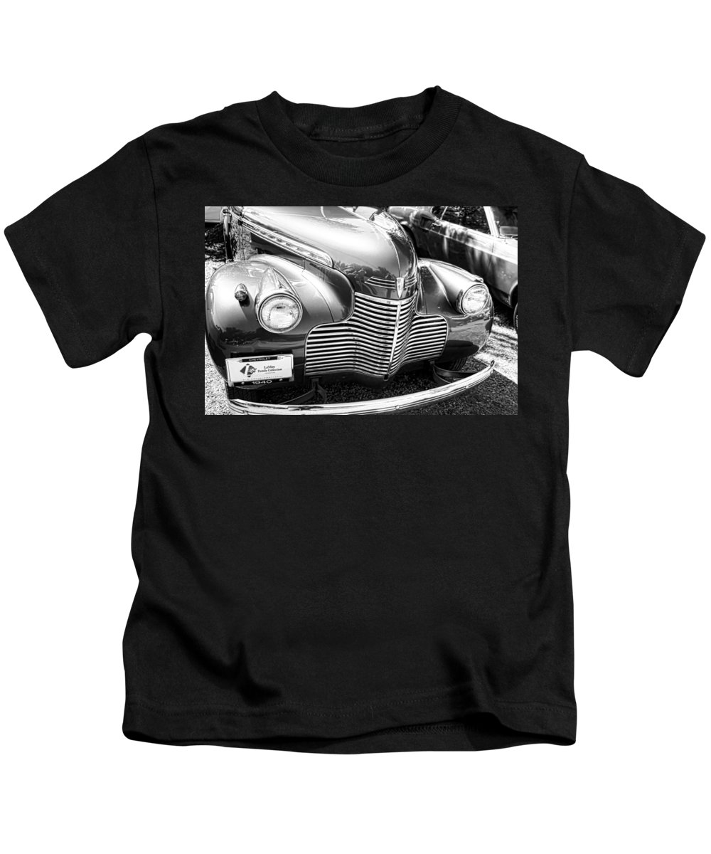 Kids T-Shirt featuring the photograph 1940 Chevy Grill by Cathy Anderson
