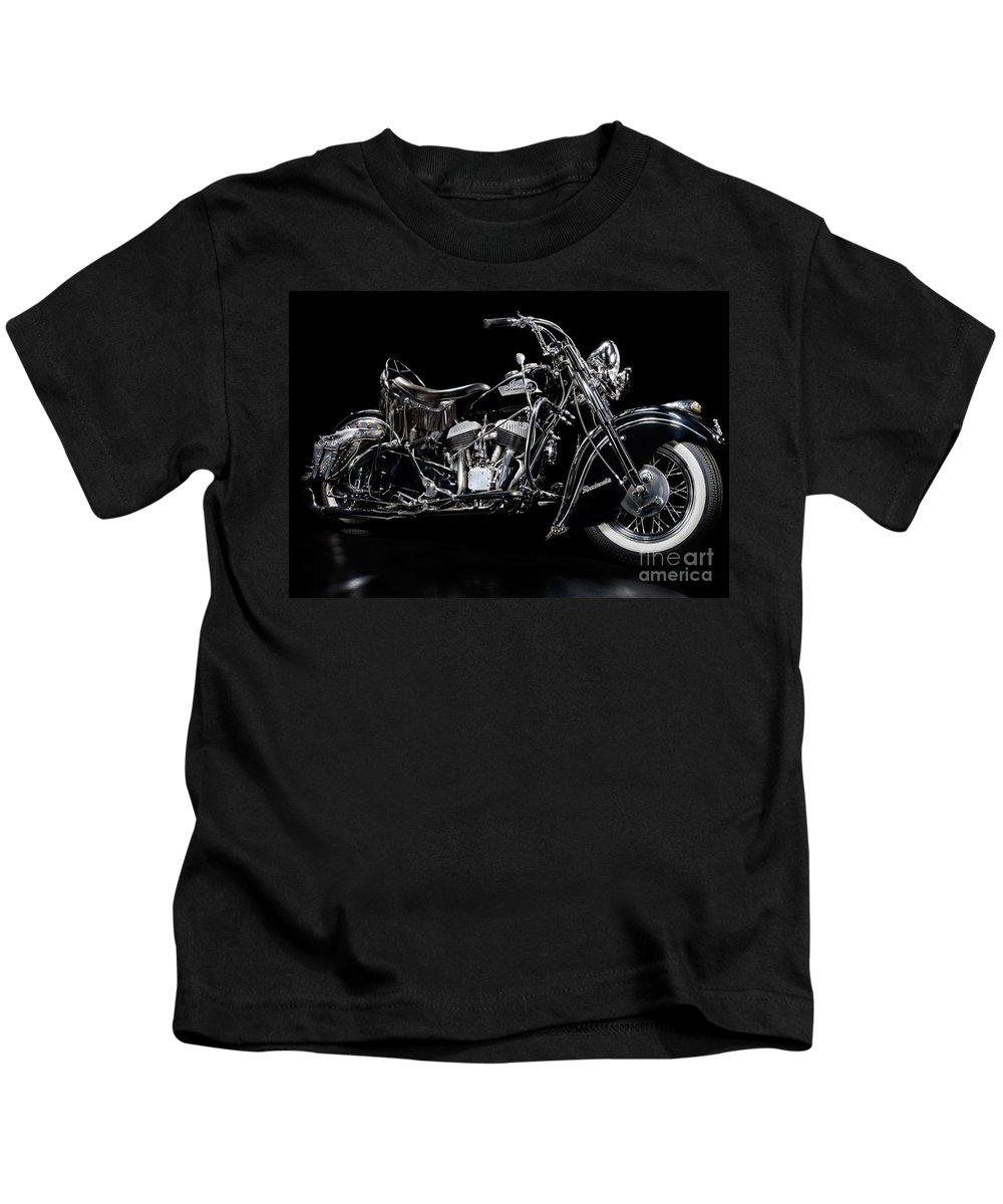 American Kids T-Shirt featuring the photograph 1951 Indian Chief Blackhawk by Frank Kletschkus