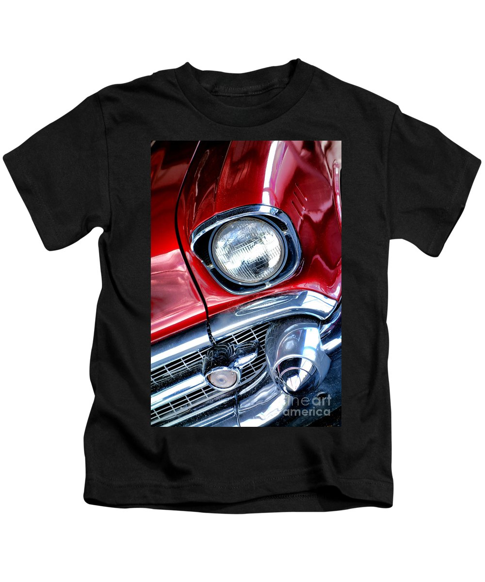 1957 Kids T-Shirt featuring the photograph 1957 Chevy Bel Air by Olivier Le Queinec