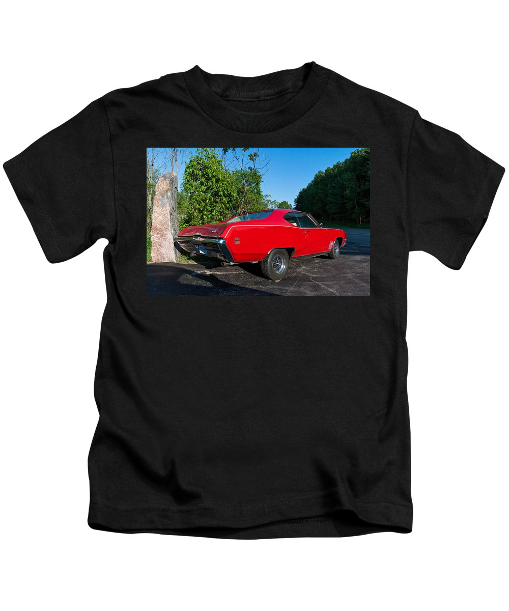 Automotive Kids T-Shirt featuring the photograph 1969 Buick Gs by Steve Harrington