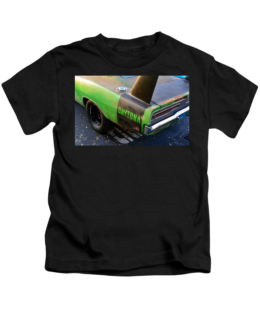 1970 Dodge Daytona Charger Kids T-Shirt featuring the photograph 1970 Dodge Daytona Charger by David Lee Thompson