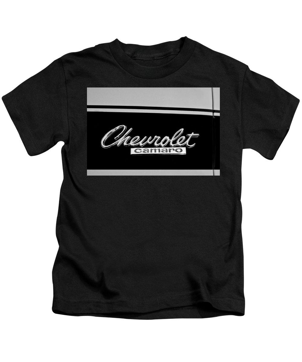 1967 Chevrolet Camaro Emblem Kids T-Shirt featuring the photograph 1967 Chevrolet Camaro Emblem by Jill Reger