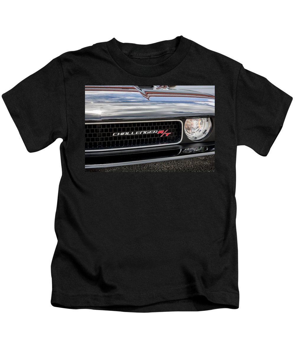 Dodge Kids T-Shirt featuring the photograph 2011 Dodge Challenger Rt Black by Rich Franco