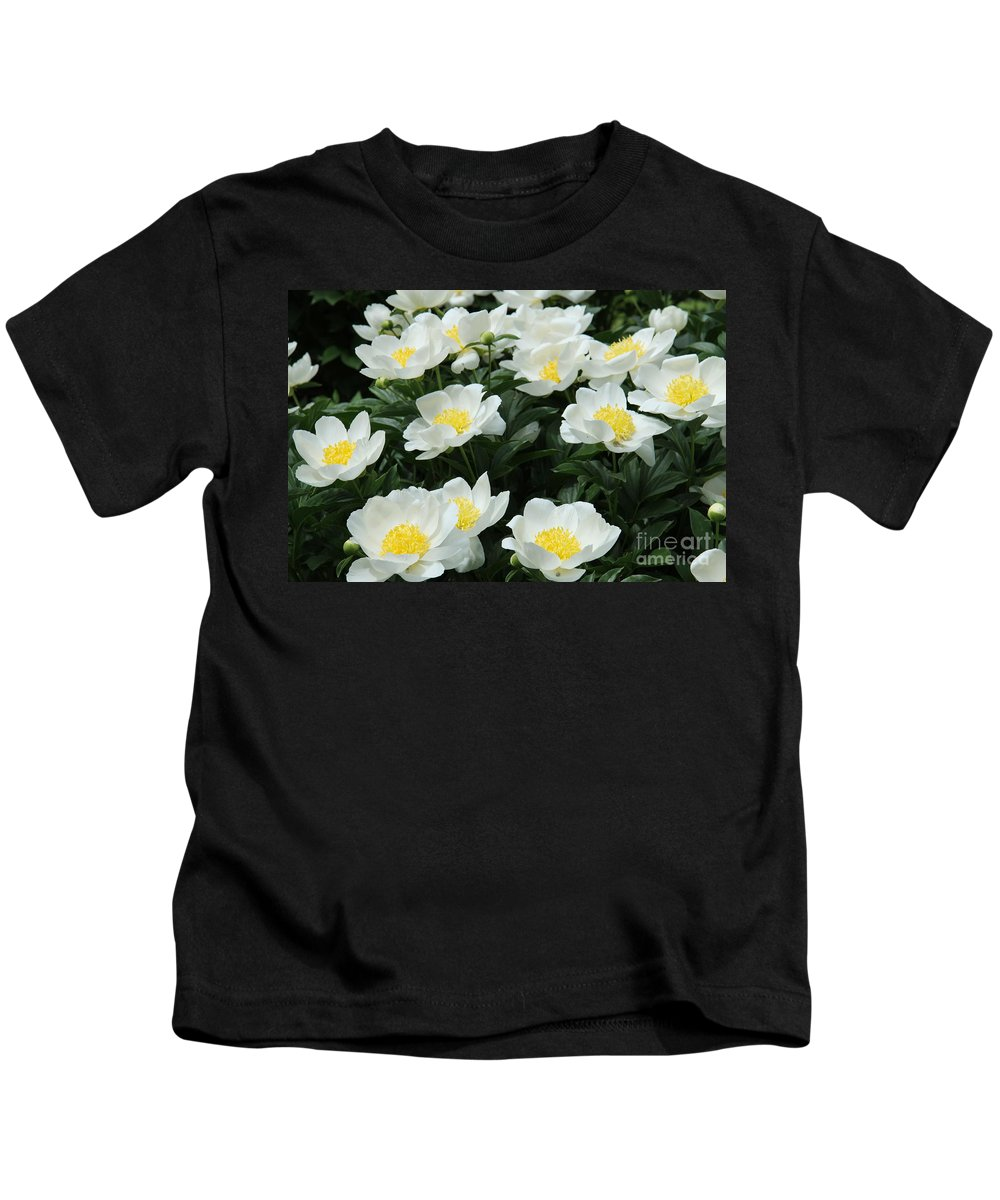Peonies Kids T-Shirt featuring the photograph All Together by Christiane Schulze Art And Photography