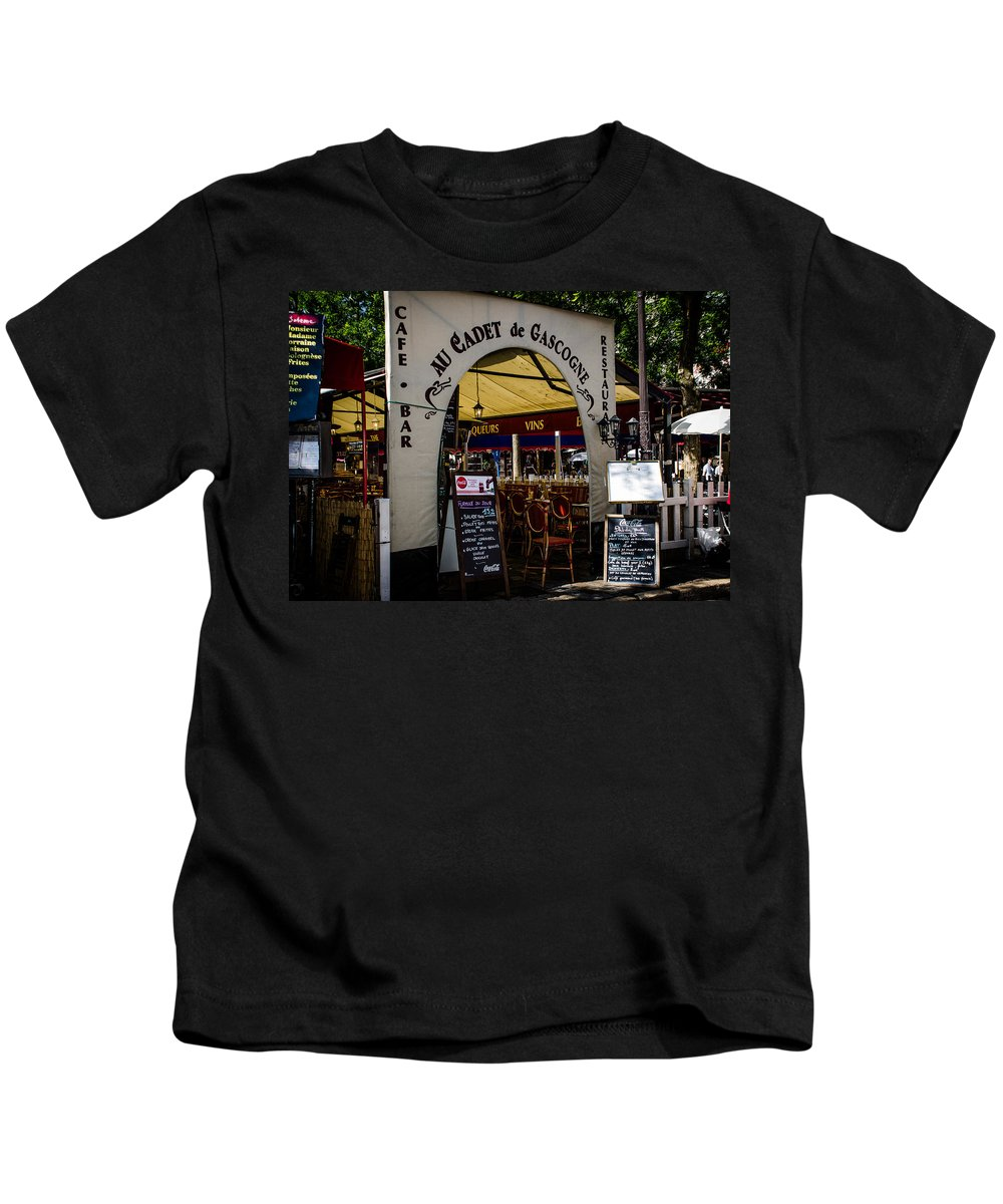 Place Kids T-Shirt featuring the photograph Au Cadet De Gascogne by Dany Lison