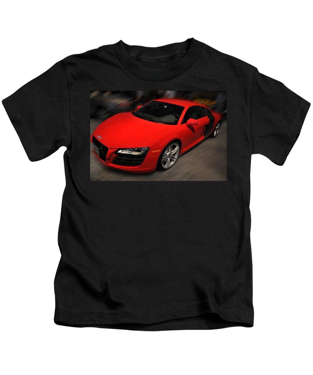 Photo Kids T-Shirt featuring the photograph Audi R8 by Dragan Kudjerski