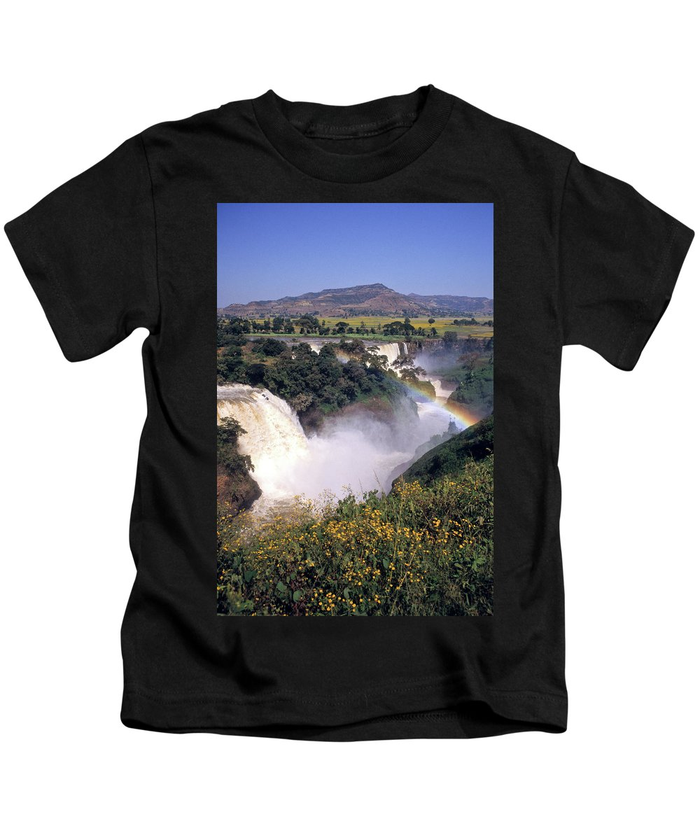 Africa Kids T-Shirt featuring the photograph Blue Nile Falls by Michele Burgess