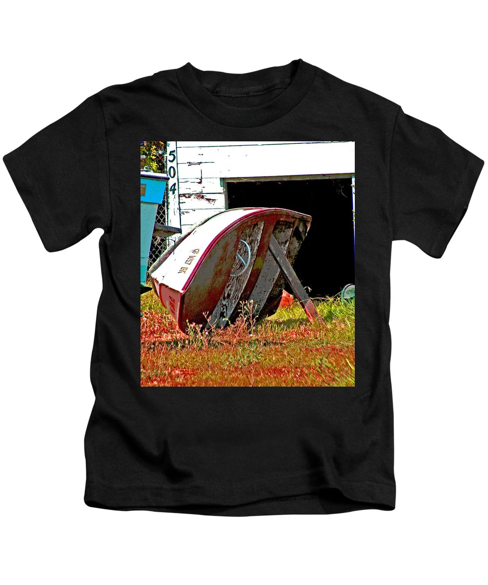 Saramento River Delta Kids T-Shirt featuring the photograph Bottom Up by Joseph Coulombe
