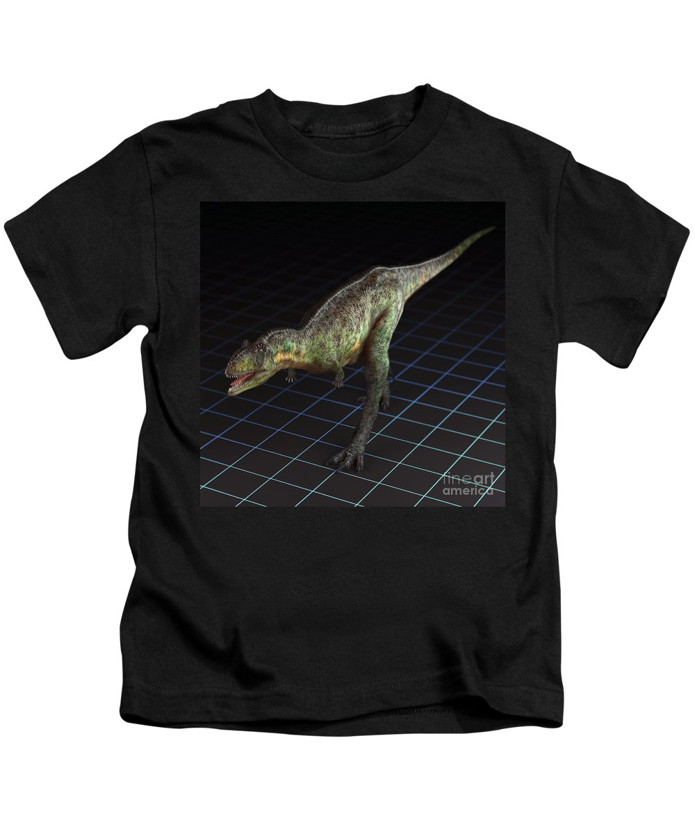 Extinction Kids T-Shirt featuring the photograph Dinosaur Aucasaurus by Science Picture Co