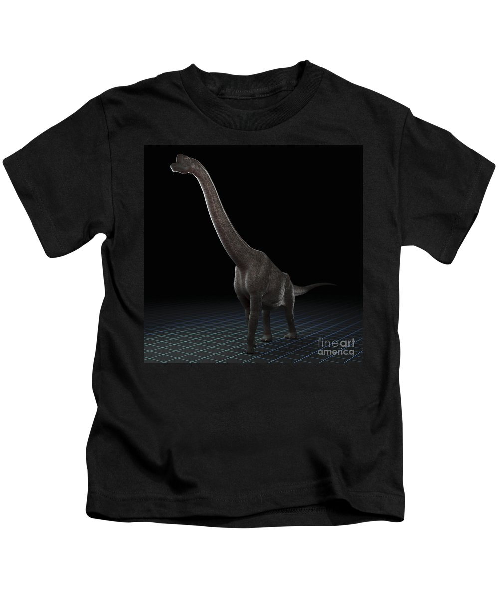 Evolve Kids T-Shirt featuring the photograph Dinosaur Brachiosaurus by Science Picture Co