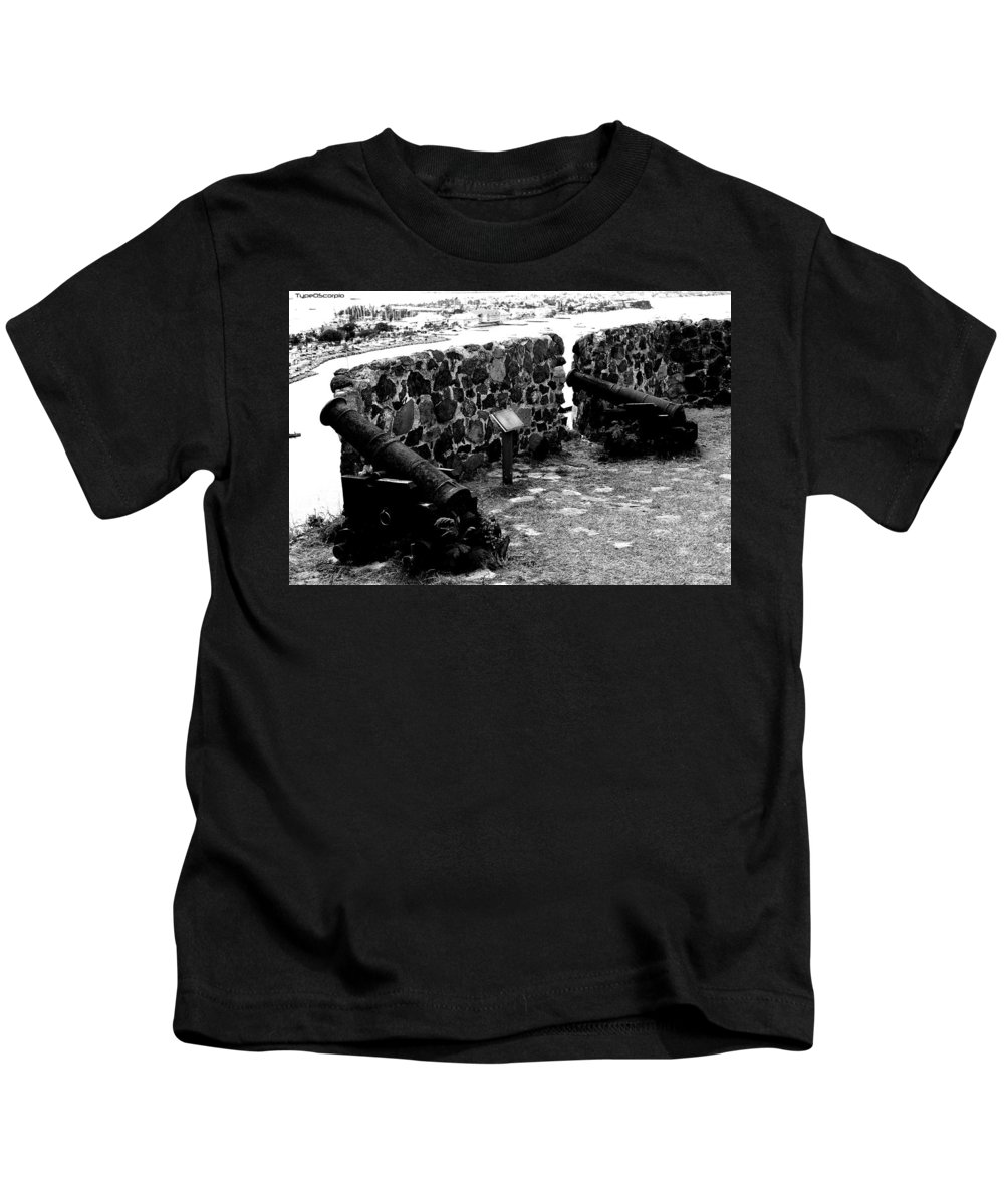 Fort St. Louis Kids T-Shirt featuring the photograph Fort St. Louis by James Markey