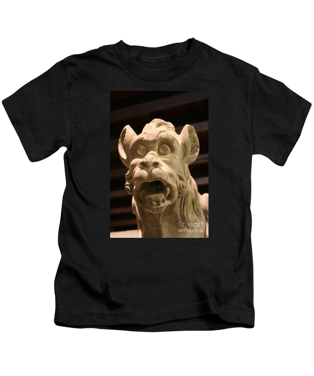 Gargole Kids T-Shirt featuring the photograph Gargoyle by Christiane Schulze Art And Photography