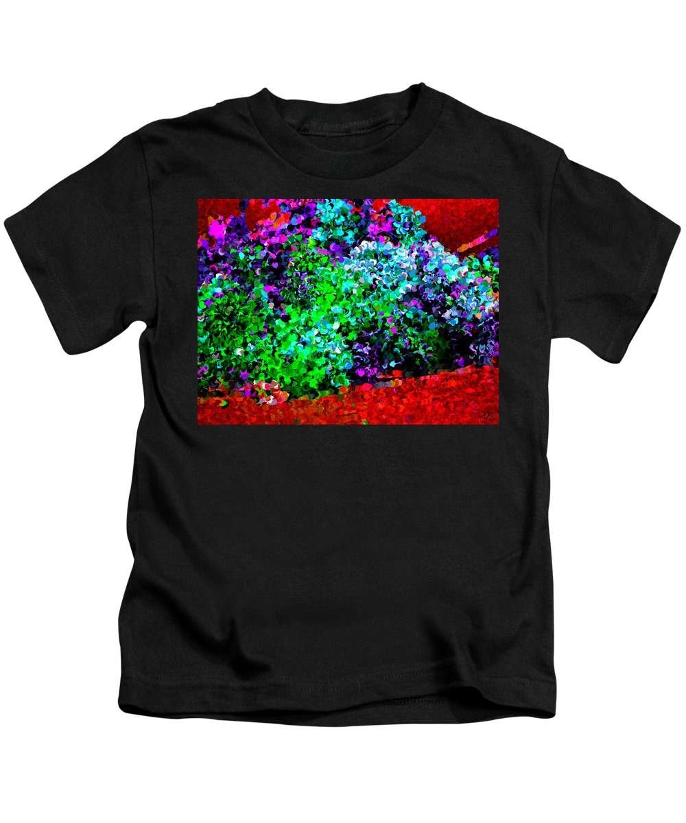 Colorful Kids T-Shirt featuring the painting I Love Flowers by Bruce Nutting