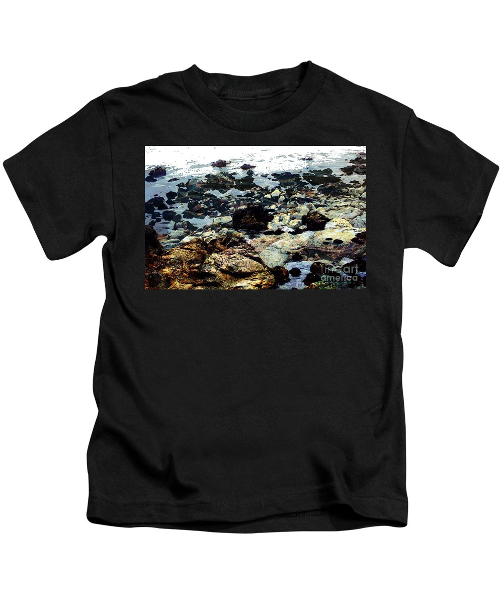Ocean View Digital Image Kids T-Shirt featuring the digital art Ocean View by Yael VanGruber