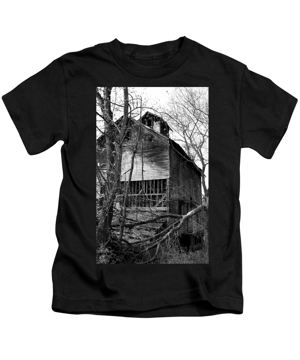Mill Kids T-Shirt featuring the photograph Old Mill Funk Bottoms by Jack R Perry