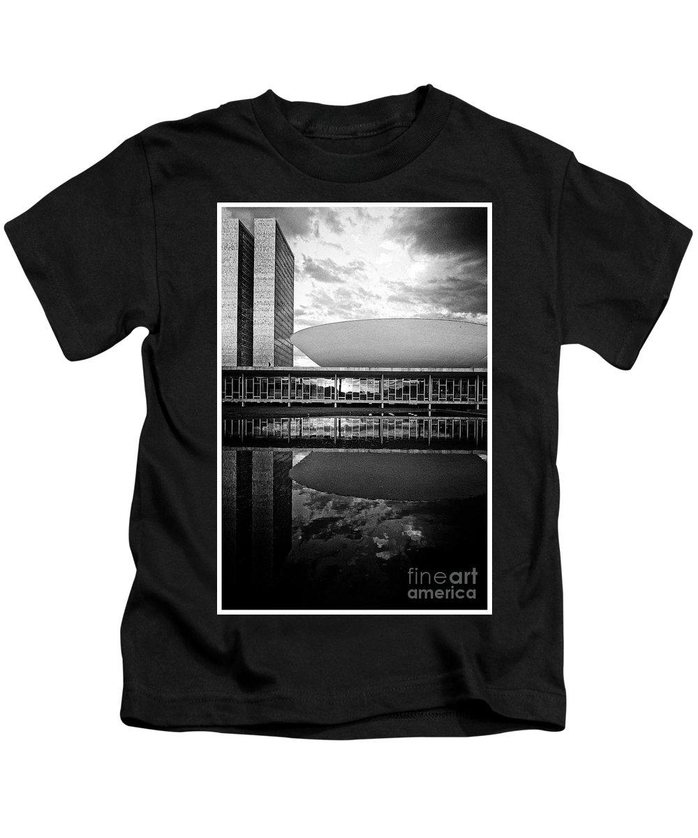 Kids T-Shirt featuring the photograph Oscar Niemeyer Architecture- Brazil by Karla Weber