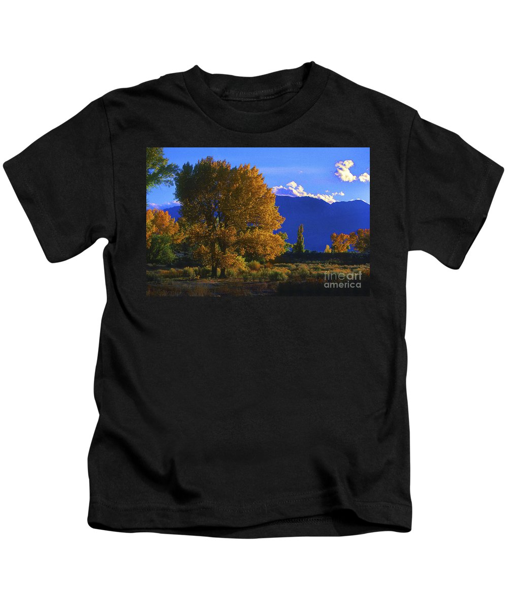 Fall Colors Kids T-Shirt featuring the photograph Owens Valley Fall Colors by Paul W Faust - Impressions of Light