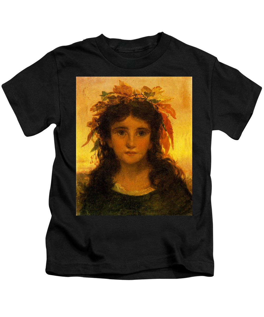 Sophie G Andersonkids Kids T-Shirt featuring the photograph Autumn by Sophie G Anderson