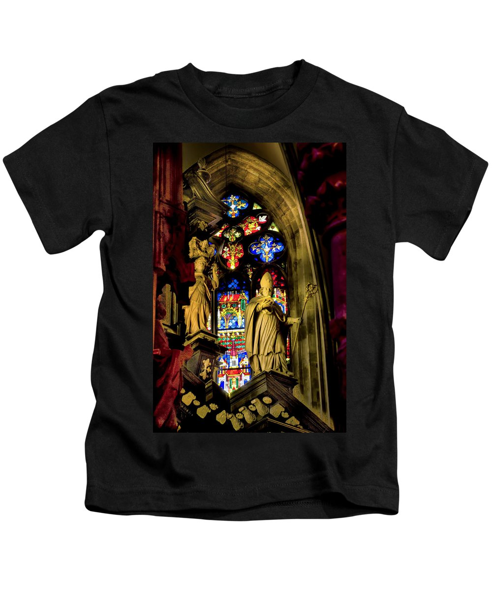 St Stephens Cathedral Vienna Kids T-Shirt featuring the photograph St Stephens - Vienna by Jon Berghoff