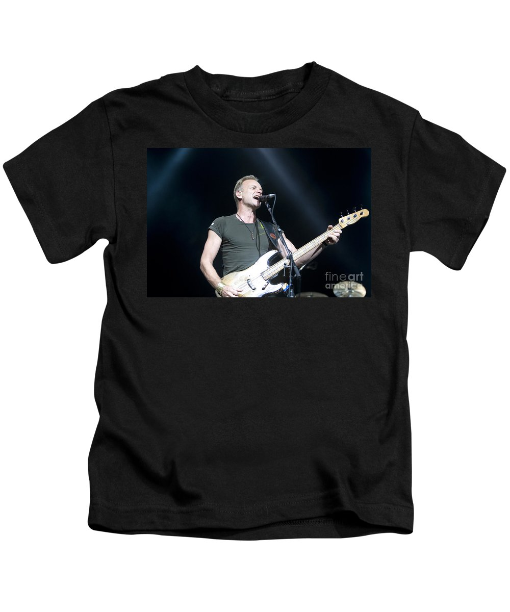 Sting Kids T-Shirt featuring the photograph Sting Of The Police by Jason O Watson