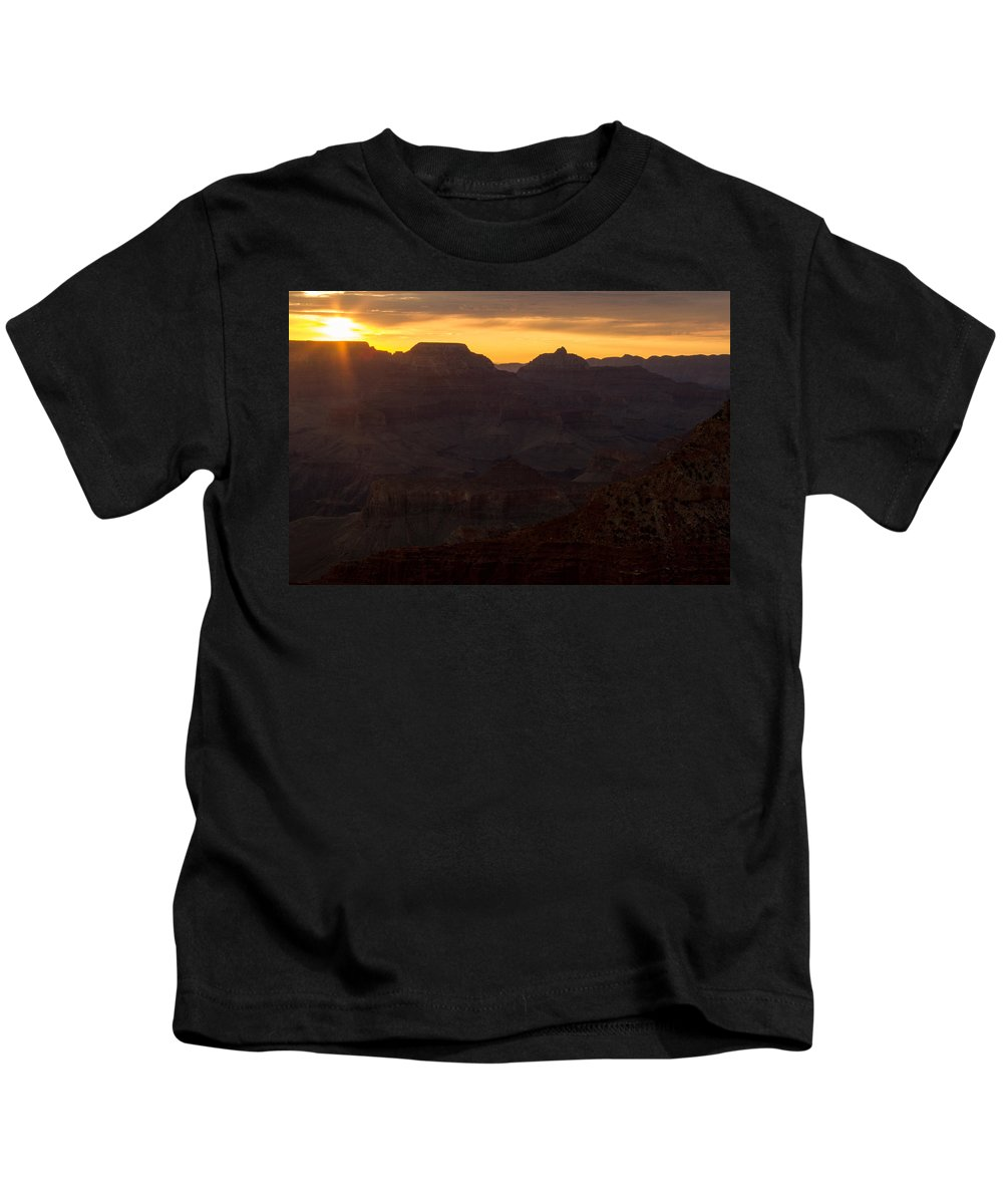 Gsunrise Kids T-Shirt featuring the photograph Sunrise At The Grand Canyon by Kathleen Odenthal
