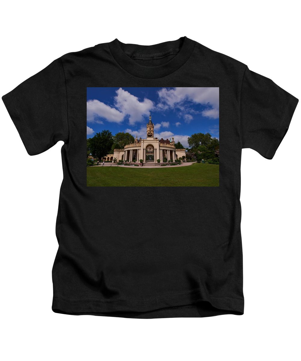 Alankomaat Kids T-Shirt featuring the photograph The Castle Of Schwerin by Jouko Lehto