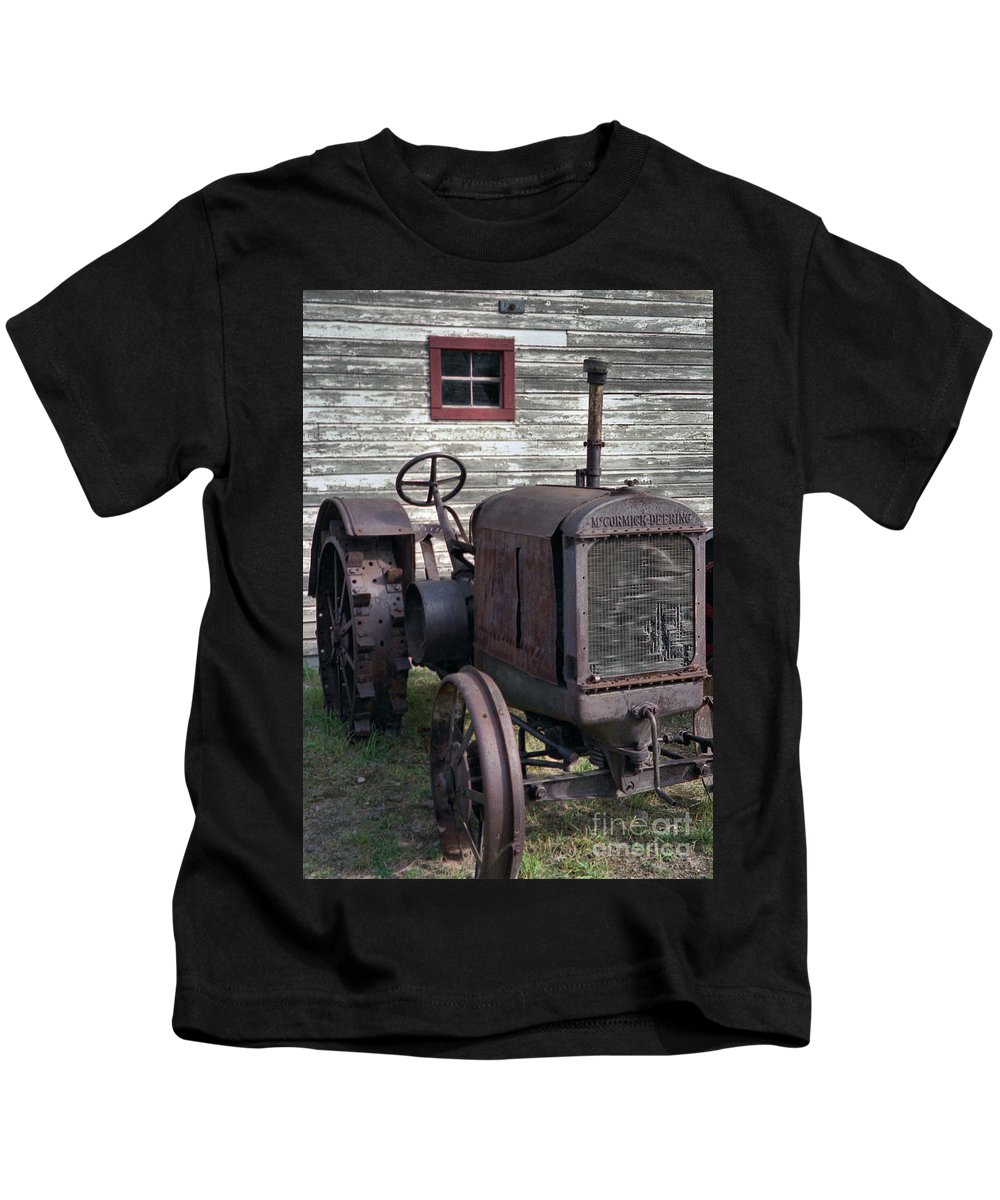 Farm Tractor Kids T-Shirt featuring the photograph The Old Mule by Richard Rizzo