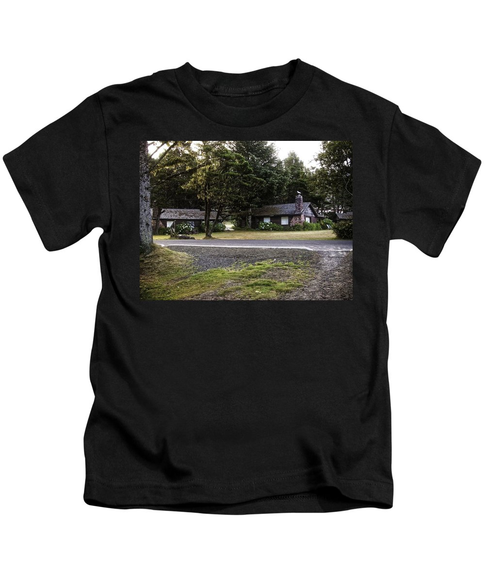 Yachats Kids T-Shirt featuring the photograph The Shamrock Logetts by Image Takers Photography LLC - Carol Haddon