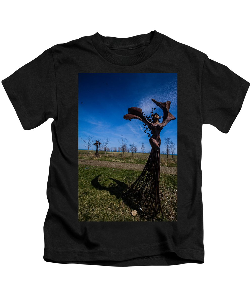 Kids T-Shirt featuring the photograph up by Sue Conwell