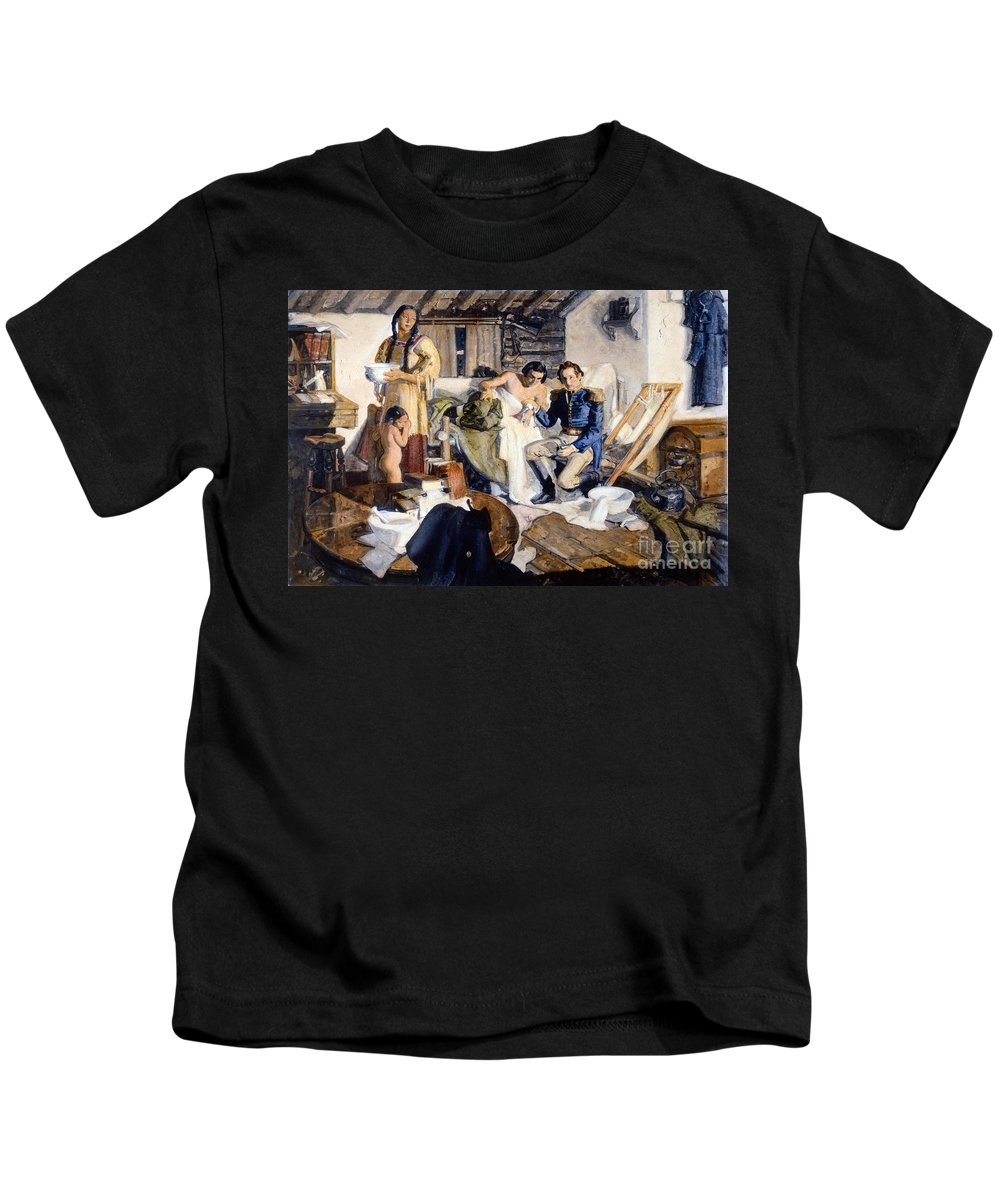 1820s Kids T-Shirt featuring the photograph William Beaumont by Granger