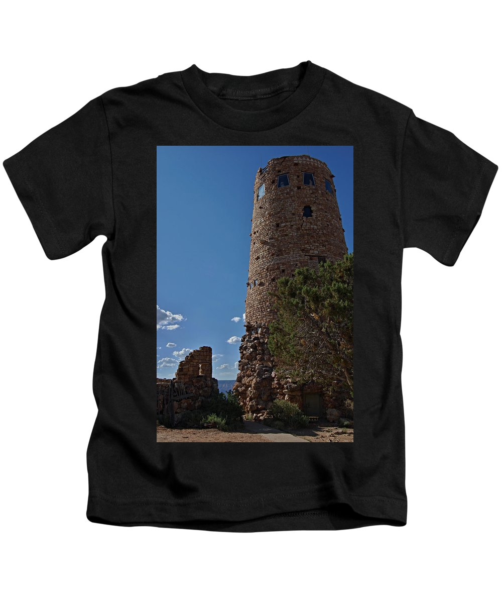 Grand Canyon Kids T-Shirt featuring the photograph Yavapai Tower by See My Photos