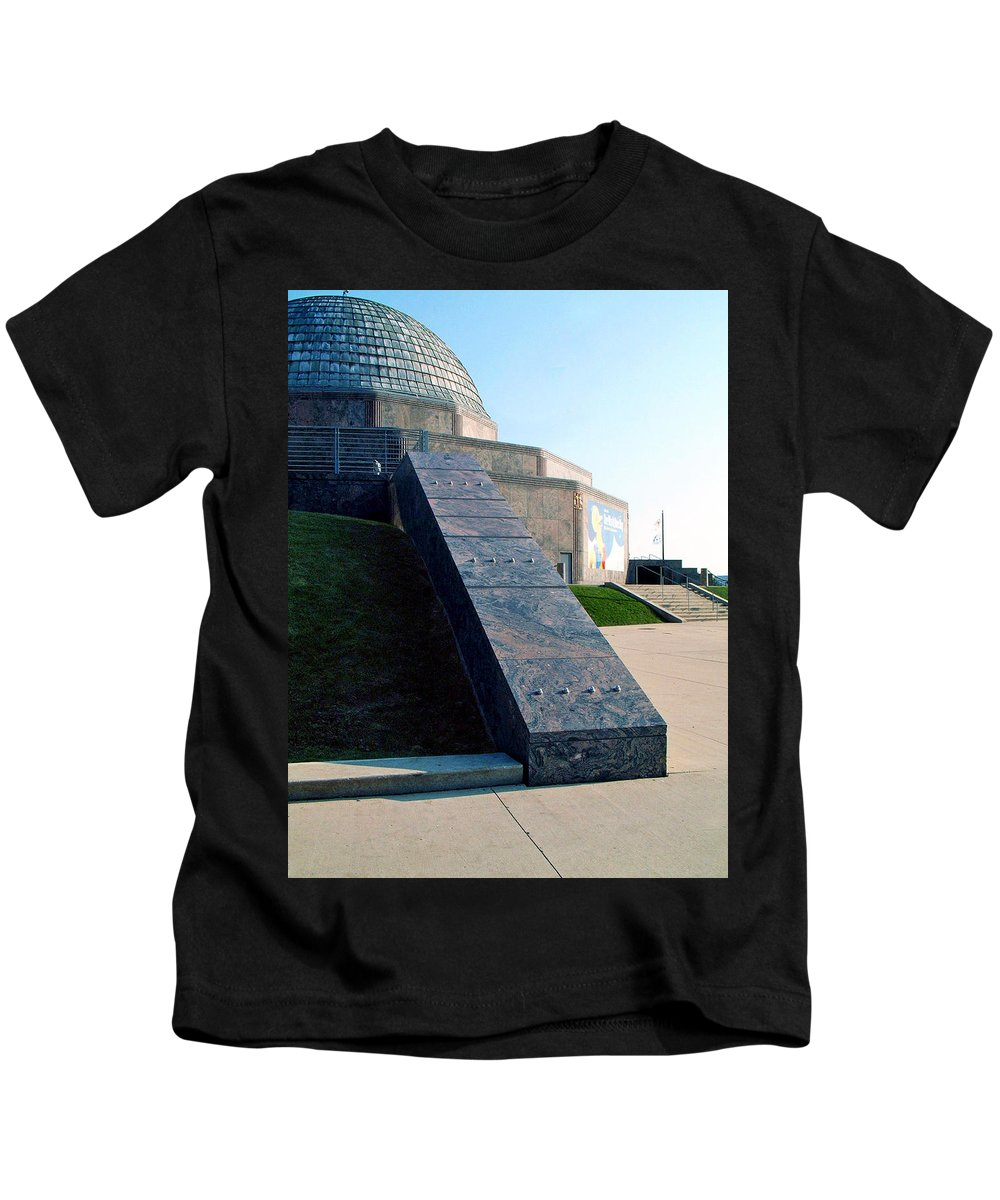 Vertical Kids T-Shirt featuring the photograph 2009 Adler Planetarium Chicago Illinois Usa by Sally Rockefeller