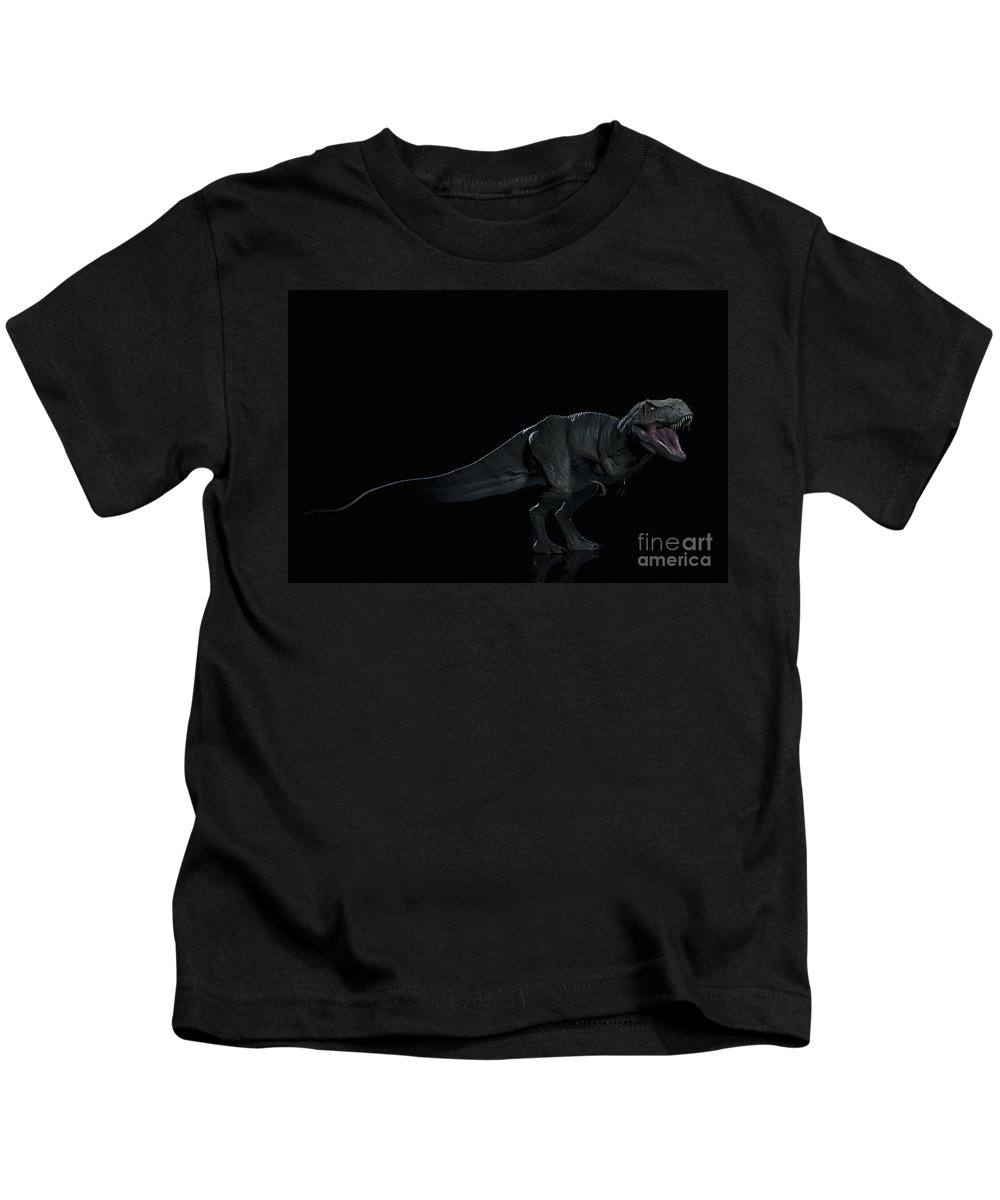 Digitally Generated Image Kids T-Shirt featuring the photograph Dinosaur Tyrannosaurus by Science Picture Co