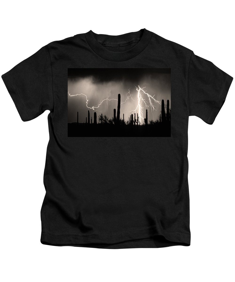 Arizona Kids T-Shirt featuring the photograph 2nd Shot - 1 Shoot by James BO Insogna