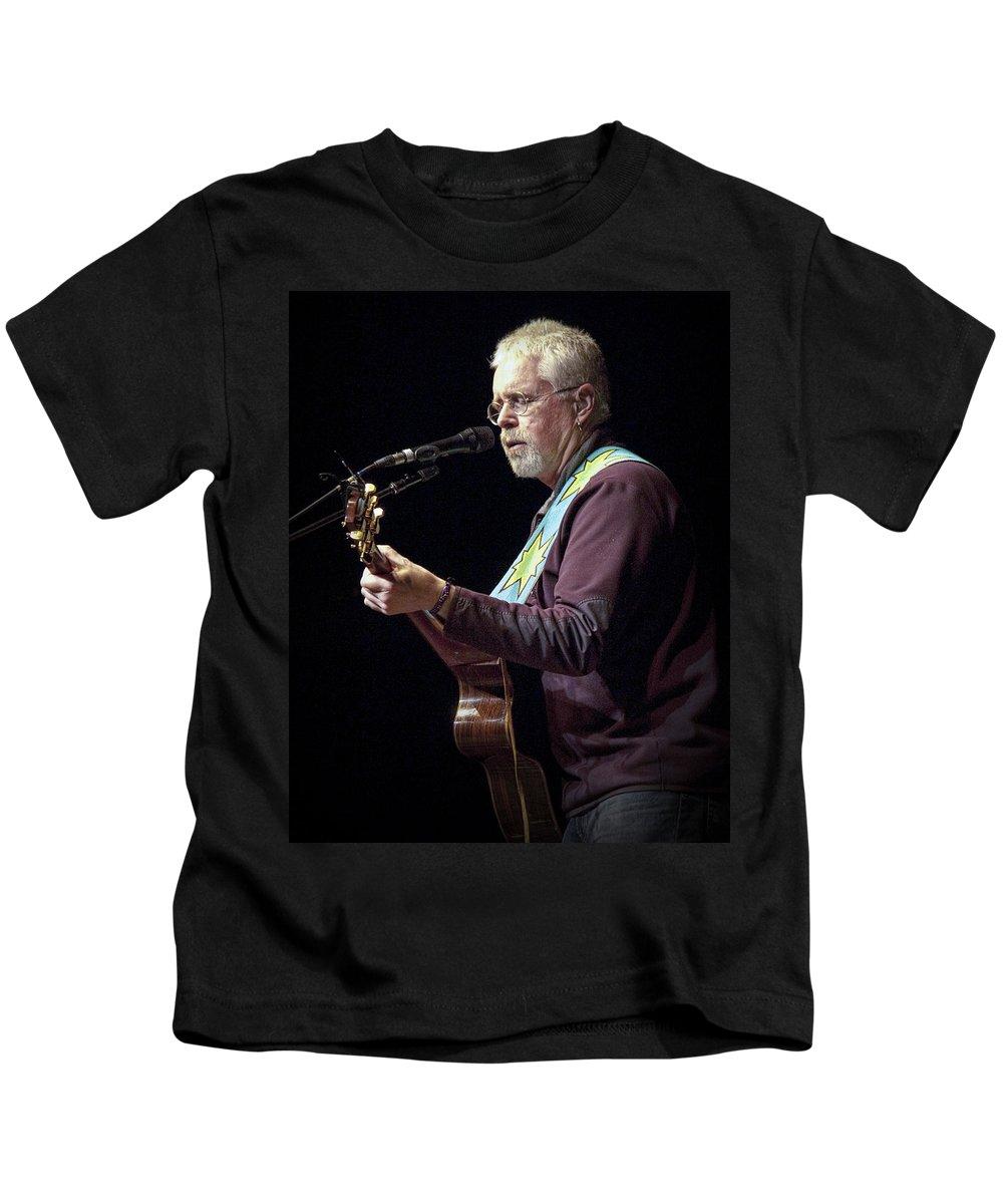 Art Kids T-Shirt featuring the photograph Canadian Folk Rocker Bruce Cockburn by Randall Nyhof