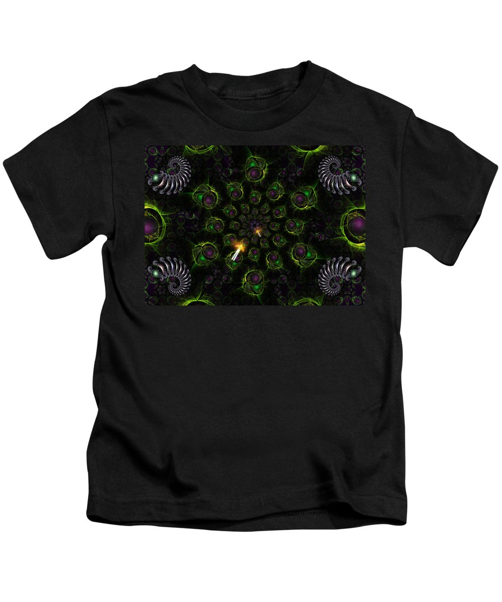 Corporate Kids T-Shirt featuring the digital art Cosmic Embryos by Shawn Dall
