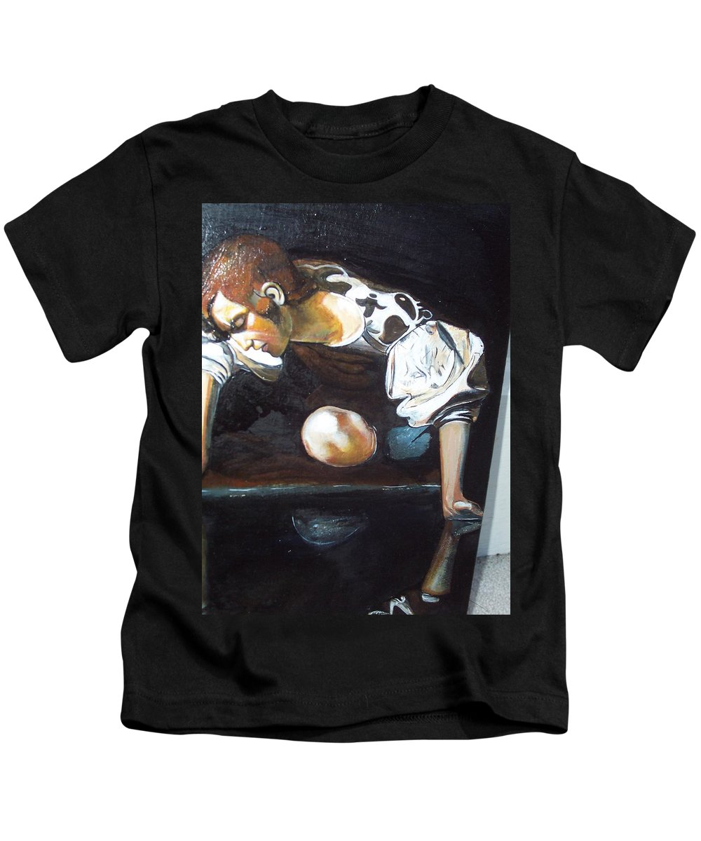 Kids T-Shirt featuring the painting Detail by Jude Darrien