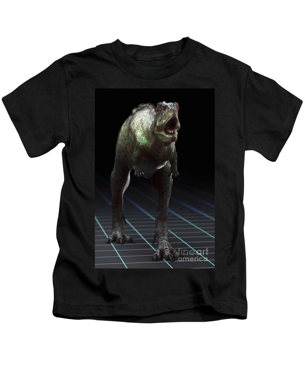 Evolve Kids T-Shirt featuring the photograph Dinosaur Aucasaurus by Science Picture Co