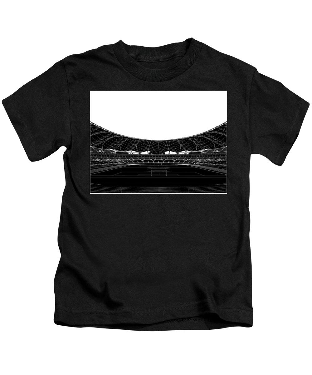 Stadium Kids T-Shirt featuring the digital art Football Soccer Stadium by Nenad Cerovic