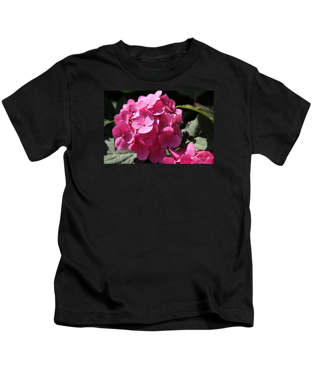 Hydrangea Kids T-Shirt featuring the photograph Hydrangea by Christiane Schulze Art And Photography