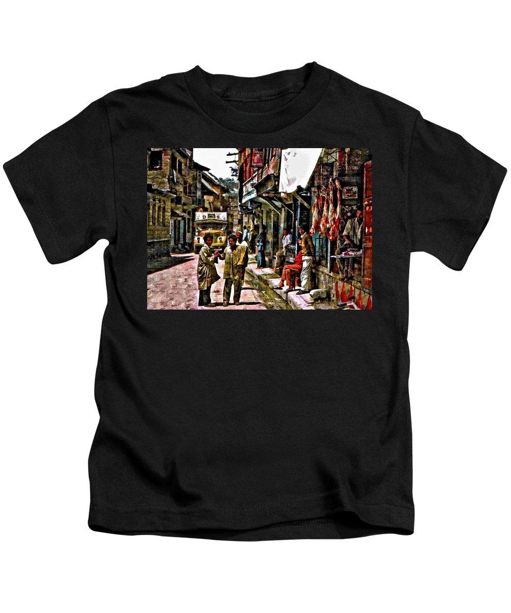 Kathmandu Kids T-Shirt featuring the photograph Kathmandu by Steve Harrington
